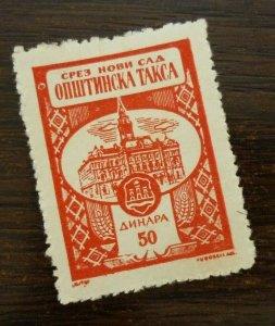 Yugoslavia Serbia NOVI SAD Local Revenue Stamp 50 Dinara  CX53