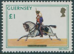 Guernsey 1974 SG113 £1 Militia MNH