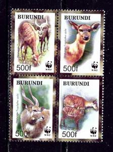 Burundi 774 MNH 2004 W.W.F. block of 4