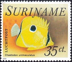 Surinam # C55 mnh ~ 35¢ Fish - Chaetodon unimaculacus