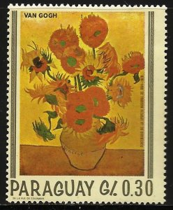 Paraguay 1967 Scott# 1027d MH (gum disturbance)