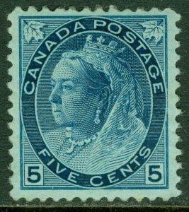 EDW1949SELL : CANADA 1899 Scott #79 VF, Mint OG. Very Fresh stamp. Catalog $220.