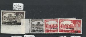 BR PO IN EASTERN ARABIA MUSCAT   (PP2704B) ON GB QEII SG 56-7, 56A, 57B  MNH