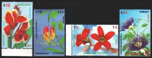 Bangladesh. 1995. 528-32 from the series. Flowers, flora. MNH.