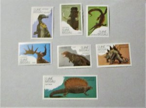 Guinea Bissau - 827-33, MNH Set. Prehistoric Creatures. SCV - $10.00