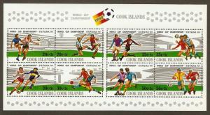 Cook Islands #B96 NH Espana 82 Soccer SS