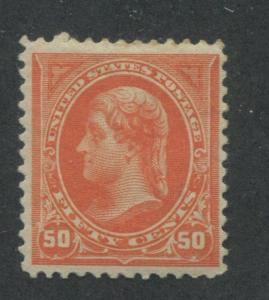 1894 US Stamp #260 50c Mint Hinged F/VF Original Gum Catalogue Value $475
