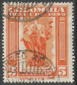 COLOMBIA 584 VFU ORCHIDS Z6724-2