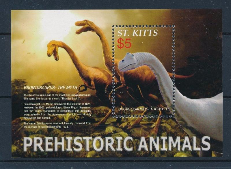 [36036] St. Kitts 2005 Pre Historic Animals Dinosaurs MN Sheet