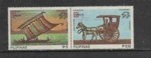 PHILIPPINES #1349a 1978 CAPEX 78' MINT VF NH O.G PAIR