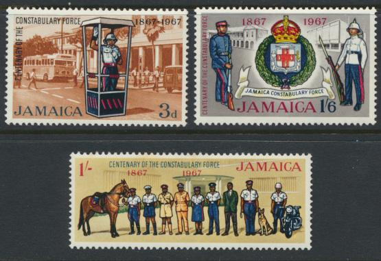 Jamaica SG 264-6 Mint Hinged   SC# 263-65 Constabulary Force see details