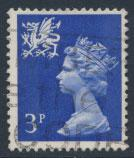 Great Britain Wales  SG W14 SC# WMMH2 Used  3p Machin  see scan 2 bands