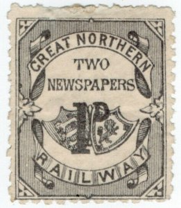 (I.B) Great Northern Railway : Newspaper Parcel 1d
