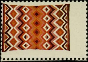 #2237 VAR. (INSCRIPTION USA 22¢) BLACK OMITTED MAJOR ERROR NAVAJO ART BQ1140