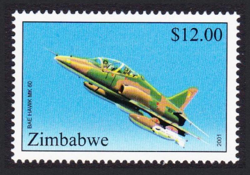 Zimbabwe BAE Hawk MK Aircraft 60 $12 SG#1045 SC#876