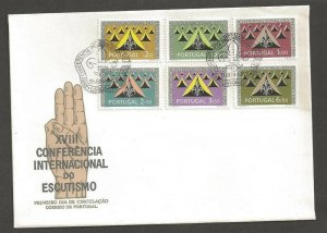 1962 Portugal Boy Scouts Int'l Conference tents FDC