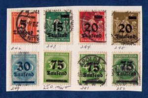 Germany Scott 242-254 Used / And MH (Lot Of 13) Not A Complete Set F-VF