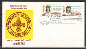 Philippines, 1019. Scott cat 4th Scout National Jamboree o/p. First day cover. ^