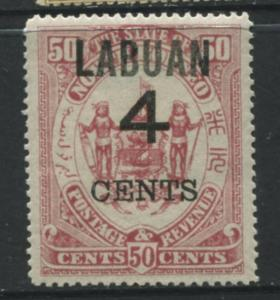 Labuan - Scott 94 - Overprint - 1899 - MLH - 4c on a 50c Stamp