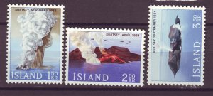 J25452 JLstamps 1965 iceland set mnh #372-4 volcanic islands