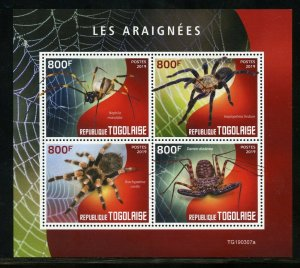 TOGO 2019 SPIDERS  SHEET MINT NEVER HINGED
