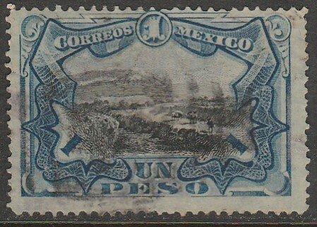 MEXICO 302, $1P VIEW OF POPOCATEPETL VOLCANO. USED. F-VF. (902)