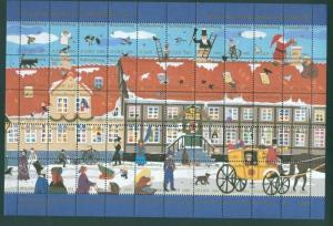 Denmark. Christmas Sheet 1991 Kalundborg. Ole Lund's Estate. Mail Coach.People.