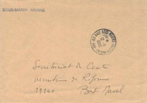 France Military Free Mail 1980 83-Base Sous-Marins-Toulon-Marine, Var to Bres...