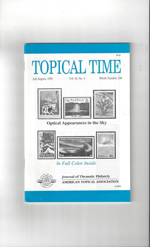 Topical Time Magazine JUL-AUG 1999  Number 296, ATA Journal