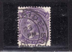 Australian States-South Australia-Sc#116-used-2p purple-QV-1