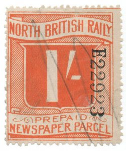(I.B) North British Railway : Prepaid Newspaper Parcel 1/-