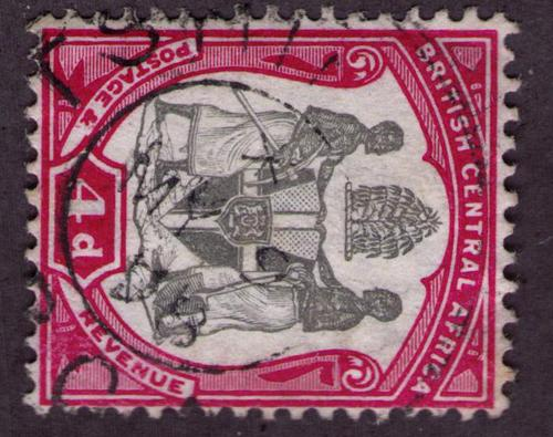 British Central Africa #  43 Used VF Tstis Cat $ 1.50+++