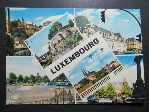 5225 Cartolina Postcard Views of Luxembourg used