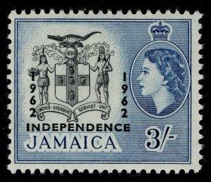 JAMAICA QEII SG190, 3s black & blue, NH MINT.