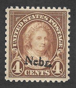 Doyle's_Stamps: MNH 1929 Nebr Overprint 4c Martha Washngton Issue  Scott #673**
