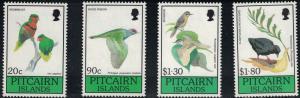 Pitcairn Islands SC343-346 BeautifulBirds-20thOrnithologicalCong.,NewZealand '90