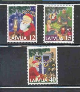 Latvia Sc 499-1 1999 Christmas stamp set mint NH