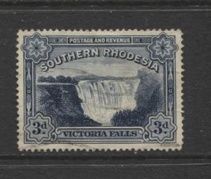 Southern Rhodesia- Scott 32 - Victoria Falls  -1932 - FU - Single 3d Stamp