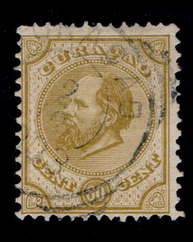 VINTAGE: CURACAO 1886 USD,LHR SCOTT # 10 $ 50 LOT # VSACUR1886B