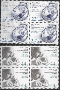 1987 United Nations NY Stamp Collecting  SC# 473-474 Mint