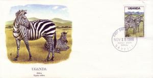 Uganda FDC SC# 638 Zebra L373