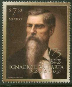 MEXICO 2475, Ignacio L. Vallarta - Chief Justice. MINT, NH. VF.