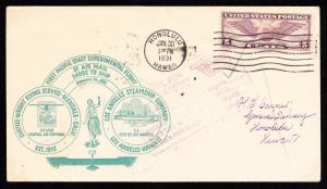 #C12 ON 1ST PACIFIC COAST EXPERIMENT FLT OF AIRMAIL SHORE TO SHIP 1931 BT5845