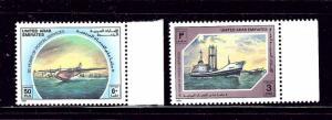 United Arab Emirates 283-84 MNH 1989 80 years of Postal Service