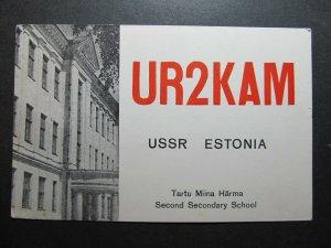 5570 Amateur Radio QSL Card Tartu Miina Harma School USSR Estonia