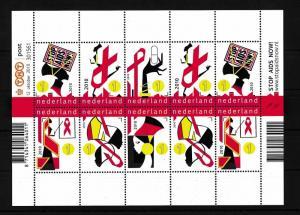 [16696] Netherlands Niederlande 2010 Stop Aids Campaign MS Sheet MNH