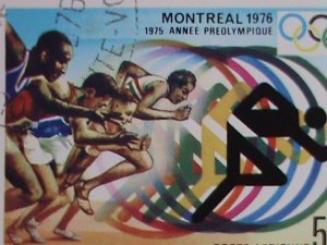 Upper Volta Stamp-1976  OLYMPIC GAMES-MONTREAL'76 CTO MNH-S/S SHEET