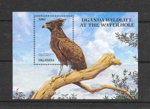 BIRDS- UGANDA #692  EAGLE  MNH