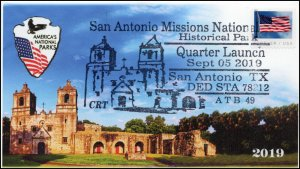 19-342, 2019, San Antonio Missions NHP,, Pictorial Postmark, Event, San Antonio