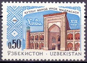 Uzbekistan. 1992. four. Architecture. MNH.